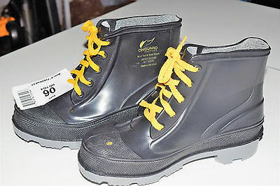 Size 6 Ankle Boots, Men's, Black, Steel Toe, Onguard NWOB