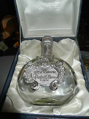 Prince Charles & Diana Wedding Decanter Whyte & Mackay Whiskey In Case & Medal