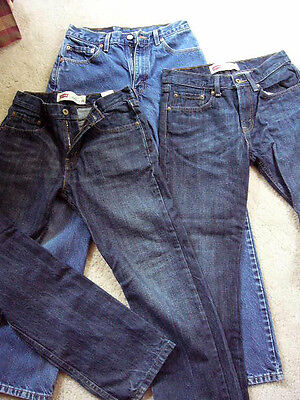 3 Pairs of Levis 2 Size 16 514 slim straight 28 X 28, 1 505 29 X 30 regular fit