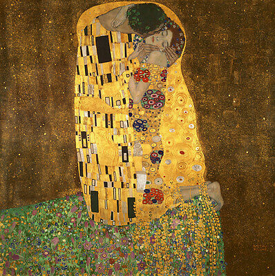 The Kiss by Klimt Fine Art Canvas Print Painting Reproduction Home Decor Framed