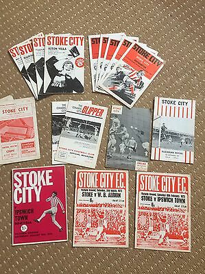 1960's And 70's Stoke City Programmes