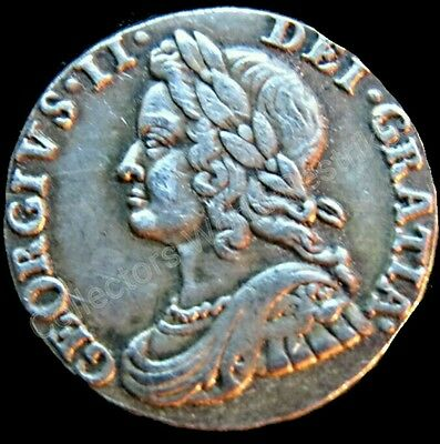 GEORGE II SCARCE 1737 British 3 pence Maundy Rare Restrike VGC Coin Antqiue.