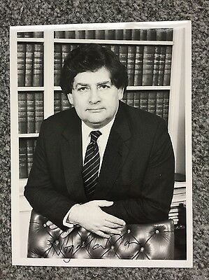 Autograph: Hand signed Photograph by   Nigel Lawson, Letter & Envelope from 1988