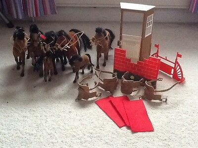 Horses/ponies X 7 With Accessories.