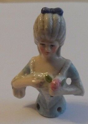"Antique pincushion half lady approx. 4.8 cm (1 7/8"") long."