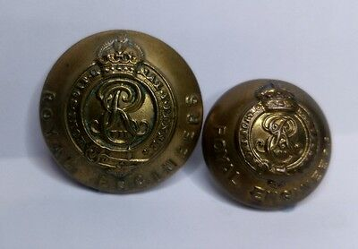 Edward VII Royal Engineers 25mm & 19.5mm Military Buttons by Herbert and Jennens