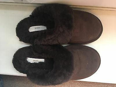 John Lewis BRAND NEW Brown Sheepskin Slippers UK 5-6 RRP £45