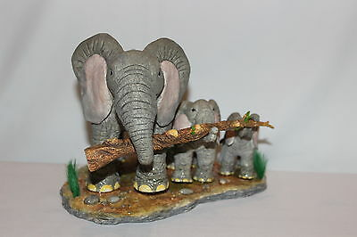 Country Artists Tuskers - Elephant - Working Together #CA03825 New In Box