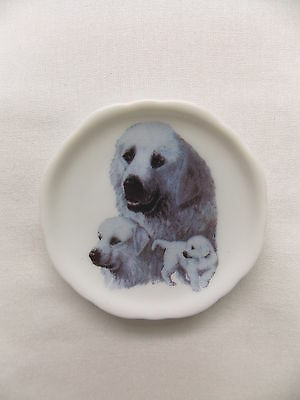 Great Pyrenees  Dog 3 View Porcelain Plate Magnet Fired Decal- 69