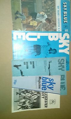 JOBLOT COVENTRY CITY V LEICESTER CITY FOOTBALL PROGRAMMES - 1970's DIVISION ONE