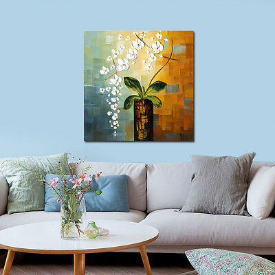 Original Hand Painted Oil Painting on Canvas Home Decor Wall Art Flowers Framed