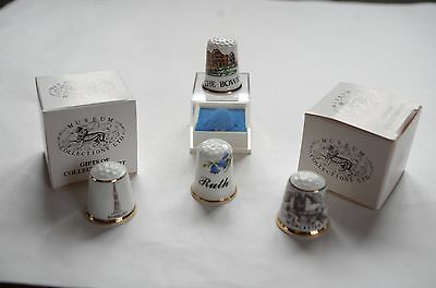 China thimbles collection of 4
