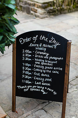 Large Chalkboard - Pavement Sign Menu Board - Great For A Wedding!