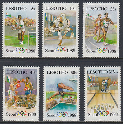 Lesotho 1987 ** Mi.659/64 Olympische Spiele olympic games [st2685]