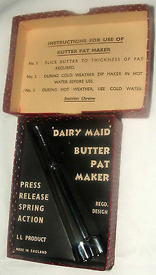 Dairy Maid Butter Pat Maker-L L Product – Made In England-Vintage