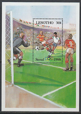 Lesotho 1987 ** Bl.40 Olympische Spiele olympic games Fußball football [st2687]