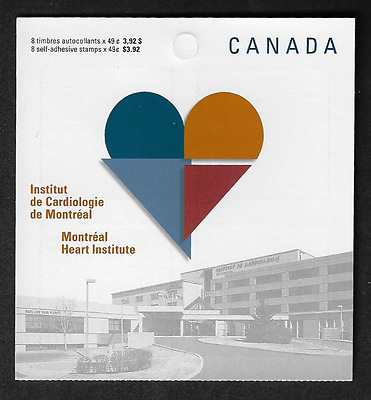 Canada Stamps - Booklet Pane of 8 - Montréal Heart Institute #2056a (BK296) -MNH