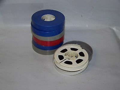 """Lot Of 7 8Mm Movie Reels Film 3"""" Marked 1970's"""