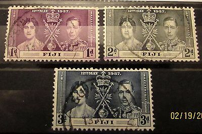 Fiji 1937 George V1 Coronation set in fine used condition.