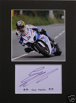 Guy Martin TT signed mounted autograph 8x6 photo print display #G
