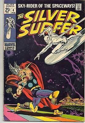 1969 Silver Surfer #4 - Thor - Marvel Comics - Silver Age - 6.5 Grade?