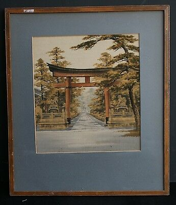 1920's Japanese Framed Silk ? Picture