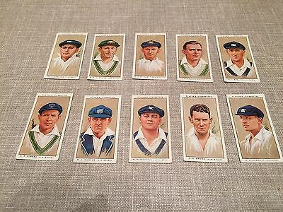 Players Cricketers 1934 Loose 10 Cards Lot 4
