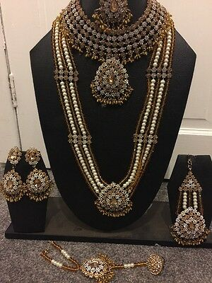 Indian Jewellery Bridal Set In Gold Silver And Pearls