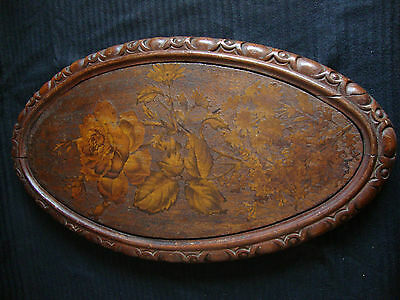 Wonderful  Victorian  Carved  Oval   Wall  Plaque