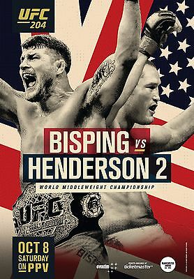 UFC 204 Fight Poster (24x36) - Michael Bisping vs Dan Henderson 2