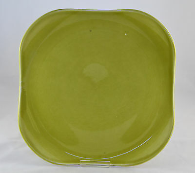 Large Vintage Russel Wright For Steubenville Green Mid-Century Modern Platter