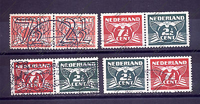 "PAY-BAS - NETHERLANDS: 1940 1941 Horizontal Pairs ""Flying dove"" Used"