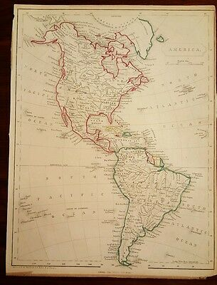1860 North and South America BLACKIE Map.