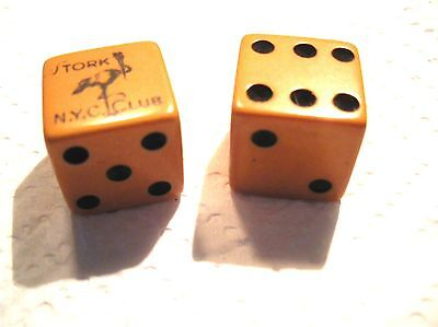 Authentic ~ NEW YORK Stork Club DICE! RARE FIND reduced