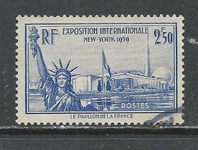 FRANCE Oblitéré – Exposition internationale New-York YT 458 de 1940