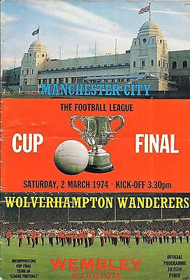 Manchester City v Wolverhampton Wanderers - League Cup Final - 02 March 1974