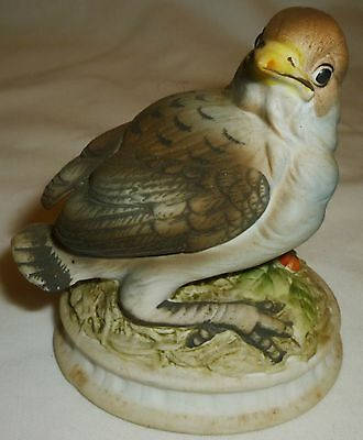 Vintage Lefton China Bluebird Snow Bird Bisque Porcelain Figurine Japan Kw 1637