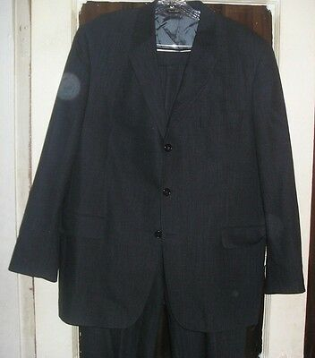 Canadian Made Mens Wool Suit by Jack Victor 44R