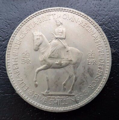 1953 Great Britain Commemorative Coin Coronation Crown / 5 Shilling Britt.omn.