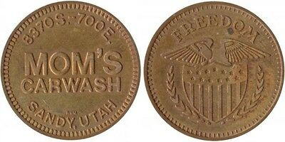 SANDY UTAH MOM'S car wash token UT 7600-E