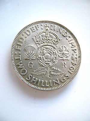 1945 George Vi Silver Florin Coin Ef