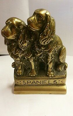 Vintage Early 19th CenturyBrass Fire Dogs / Irons / Doorstop