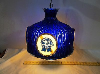 Vintage Pabst Blue Ribbon Beer Plastic Hanging Light**great Condition**