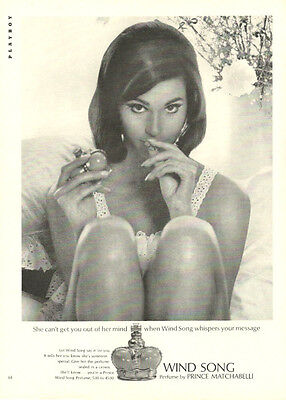 1970s  fragrance Advertisement , WIND SONG  Perfume Prince Matchabelli  073014