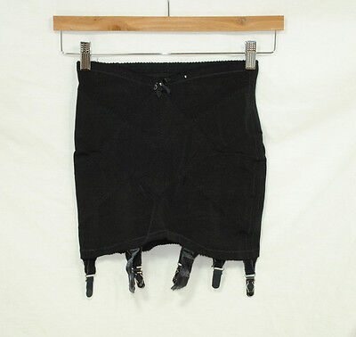 Penneys Adonna Small Black Garter Belt Girdle Fits Hips 33 34 35 36 37 Vintage
