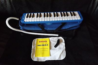 Swan 37 Key Melodica  with Mouthpiece & tube Carry case  & instructions