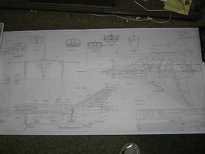 Avro CF-105 Arrow MK.1 - Avro Aircraft Areodynamic 3 Point View Blueprint