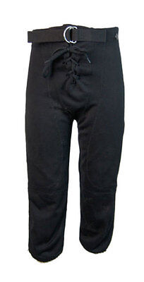 Alleson Athletic Tie-Fly American Football Shorts Pants - Black (Youth S)