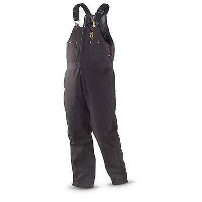 Browning Insulated Winter Fishing / Hunting Overalls Trousers (Black) - XL