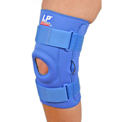 LP Support Open Patella Hinged Neoprene Knee Stabilizer Support - Blue (S)